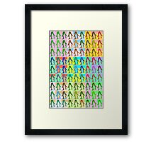 Spirograph Penguin in many colours! Framed Print