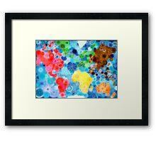 Glittering up the world! Framed Print