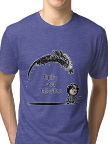 Ripley and the Alien - Black t-shirt Tri-blend T-Shirt