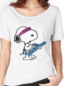 Keytar Snoopy Women's Relaxed Fit T-Shirt