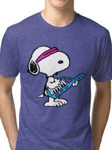 Keytar Snoopy Tri-blend T-Shirt
