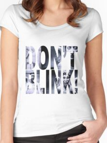 Weeping Angels - Don't Blink!! Women's Fitted Scoop T-Shirt