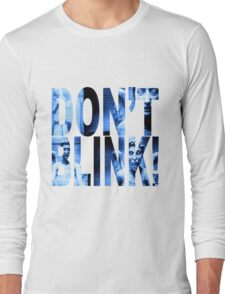 Weeping Angels - Don't Blink!! Blue* Long Sleeve T-Shirt