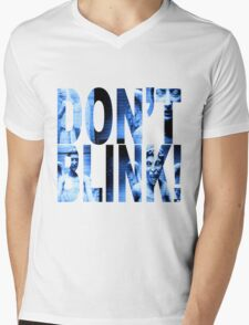 Weeping Angels - Don't Blink!! Blue* Mens V-Neck T-Shirt