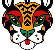 Aztec Tiger Totem by Sebasauraus