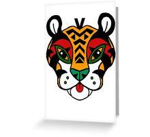 Aztec Tiger Totem Greeting Card