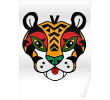Aztec Tiger Totem Poster
