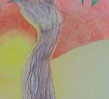 Tree of Woman, African landscape Sticker