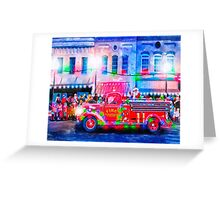 Old Fashioned Christmas Parade Greeting Card