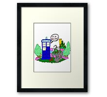 Doctor Who in OZ Framed Print