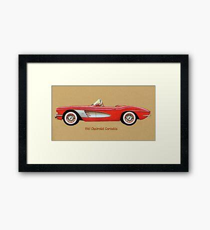 1961 Corvette Framed Print