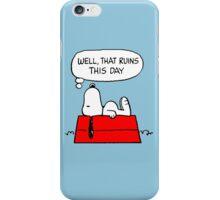 Sad Snoopy iPhone Case/Skin