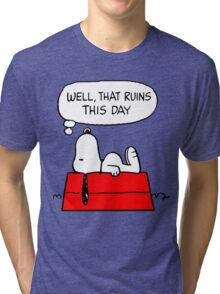 Sad Snoopy Tri-blend T-Shirt