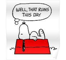Sad Snoopy Poster