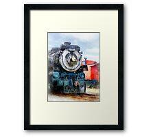 Locomotive and Caboose Framed Print