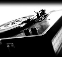 RECORD PLAYER B&W by AaronJHowell