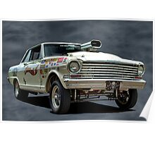1962 Chevy II Pro Street Dragster Poster