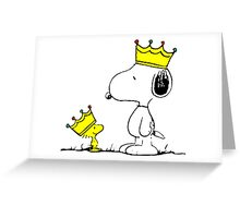 Snoopy and Woodstock Kings Greeting Card