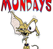 I Hate Mondays Chihuahua by Skree