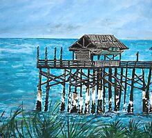 Cocoa Beach Ocean Fishing Pier by derekmccrea