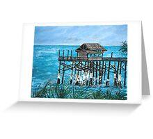Cocoa Beach Ocean Fishing Pier Greeting Card
