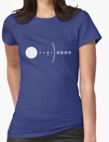 The Pale Blue Dot Womens Fitted T-Shirt