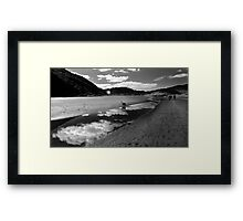 Monochrome Bethells Beach Lagoon, Auckland, New Zealand Framed Print