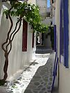 Downtown Naxos by RightSideDown