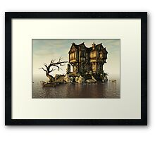 The Medieval House on The Sea Framed Print