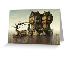 The Medieval House on The Sea Greeting Card