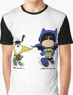 Batman and Robin Peanuts Graphic T-Shirt