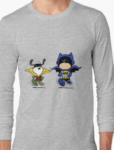 Batman and Robin Peanuts Long Sleeve T-Shirt