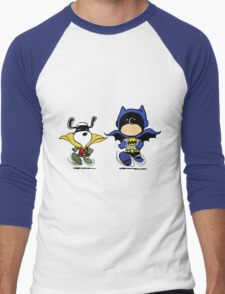 Batman and Robin Peanuts Men's Baseball ¾ T-Shirt
