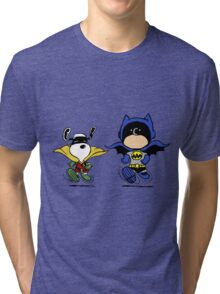 Batman and Robin Peanuts Tri-blend T-Shirt