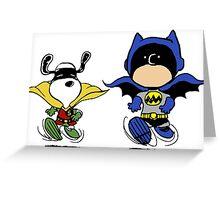 Batman and Robin Peanuts Greeting Card