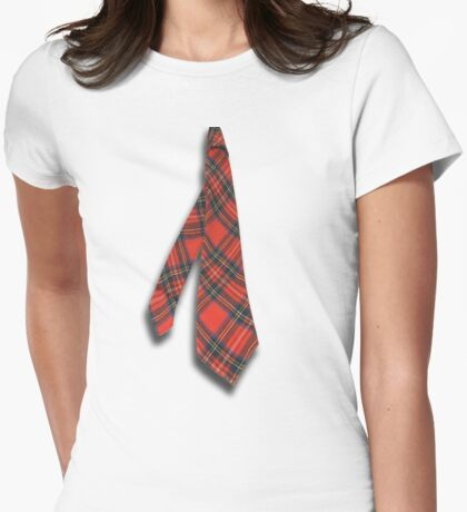 Neck Tie  T- Shirt Womens Fitted T-Shirt