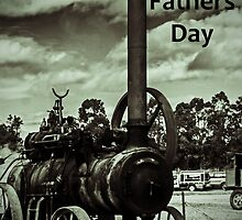 Steam Engine - Fathers Day Card by Deborah McGrath