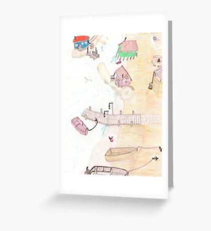 Lake Gnomes Greeting Card