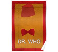 Dr. Who Minimalism Poster Poster