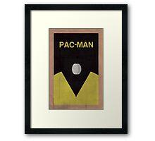 Pac-Man minimalist poster Framed Print