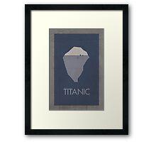Titanic minimalist poster Framed Print