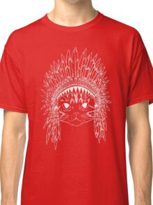 Cat with Headdress - white Classic T-Shirt