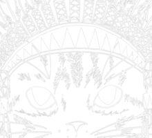 Cat with Headdress - white Sticker