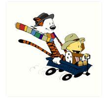 Calvin And Hobbes Doctor Calvin Art Print