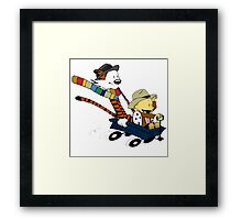 Calvin And Hobbes Doctor Calvin Framed Print