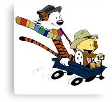 Calvin And Hobbes Doctor Calvin Canvas Print