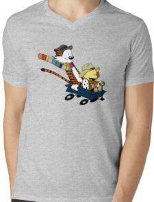 Calvin And Hobbes Doctor Calvin Mens V-Neck T-Shirt