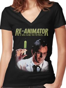 Re-Animator Shirt Women's Fitted V-Neck T-Shirt