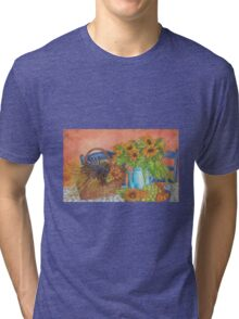 Sunflowers in kitchen Tri-blend T-Shirt