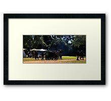 Viking Battle Scene Framed Print